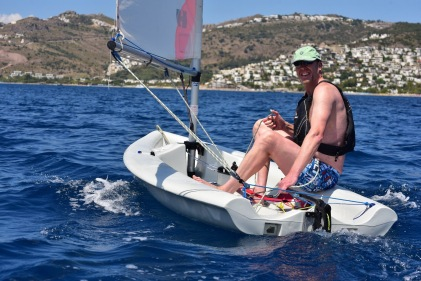 Nick wanted to do more sailing. This was on holiday in Turkey.